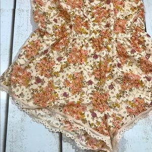 Victoria's Secret Intimates & Sleepwear - Victoria's Secret Sleep Romper XS Floral Lace